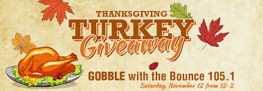 gobble with the bounce 105 1 thanksgiving turkey giveaway