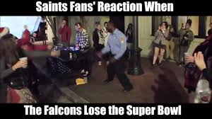 Saints Falcons Memes - when the falcons lose the super bowl saints fans reaction youtube