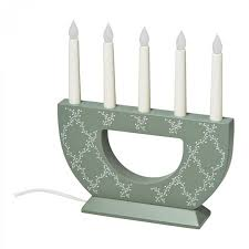 Ikea Glansa Light by Ikea Strala Christmas Candelabra Led 5 Arm Green White Wood Glansa