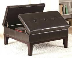 brown leather storage ottoman target tag small leather ottoman