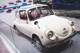 1970 subaru 360 five classics on the main floor of the 2017 new york auto show