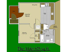 House Floor Plan Measurements 1 Bath Is Priced At 1505 And Up All Measurements 1 Bedroom Floor