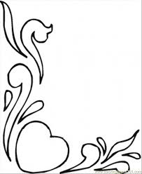 hearts flowers coloring free pattern coloring pages