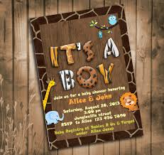 jungle baby shower invite jungle animals safari baby shower invitation with giraffe