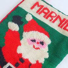 christmas needlepoint vintage handmade needlepoint christmas from vivalasvintage on