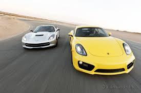 porsche cayman comparison 2014 chevy corvette stingray z51 vs 2014 porsche cayman s