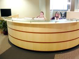 Esquire Glass Top Reception Desk Desks Circular Reception Desk Revit Circular Reception Counter