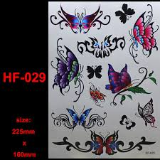 hf 029 colorful butterfly pattern size 225mmx160mm brand