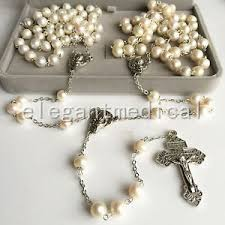 wedding rosary wedding lasso lazo wedding rosary cross crucifix real pearl 925
