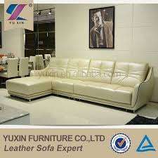 Leather Sofa Co by Exotic Living Room Cream Leather Corner Sofa Furniture Model