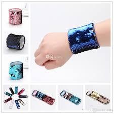 girl bracelet maker images 2018 fashion girl bracelets diy sequin mermaid wristband stress jpg
