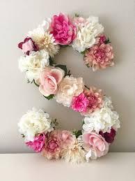 Letter Decorations For Nursery Floral Letter 15 19 24 Large Flower Letter Floral Initial