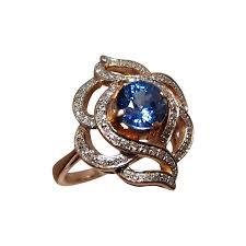 blue gem rings images Blue sapphire diamond ring 14k gold blue sapphire rings flashopal jpg
