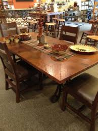 hammered copper dining table hammered copper top dining tables dining room ideas