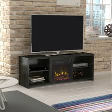 classicflame black walnut shelter cove tv stand from twin star
