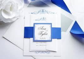 Royal Blue Wedding Invitations Royal Blue Wedding Invitation Sample Set 2579080 Weddbook