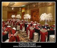 ostrich feather centerpieces feathers by angel ostrich feather centerpieces miami miami fl