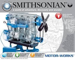 4 cylinder engine amazon com smithsonian motor works toys