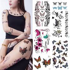 yeeech 3d butterfly designs for 6 pieces temporary tattoos