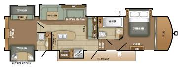 bunkhouse fifth wheel floor plans fifth wheel cers with bunkhouse and outdoor kitchen floorplan