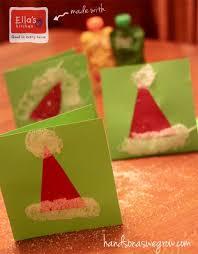 homemade santa hat christmas card hands on as we grow