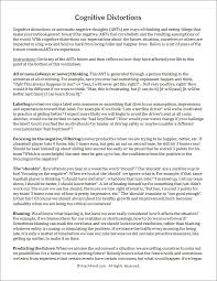 cognitive distortions worksheet therapy pinterest cognitive