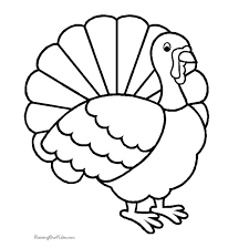 free turkey coloring page funycoloring
