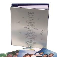 silver photo album personalized tiny soul new baby silver album giftshappenhere