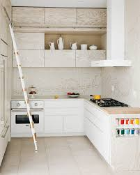 interesting interplay of white stained wood and stark white