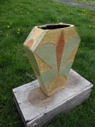 Deco Vase Yellow Art Deco Vase Brandon Artists Guild