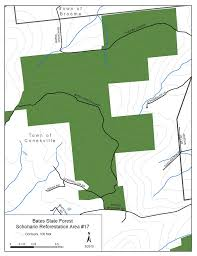 bates map bates state forest map nys dept of environmental conservation