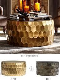 pottery barn vince metal clad coffee table copycatchic