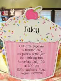 cupcake invite first birthday ideas pinterest birthdays