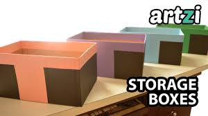 how to cover cardboard box with paper storage boxes
