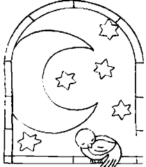 moon crescent 16 nature u2013 printable coloring pages