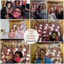 how to make your own photo booth easy inexpensive diy party photo booth the zone