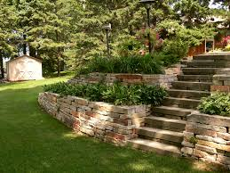 Concrete Block Garden Wall by Retaining Walls Modular Block Natural Stone And Boulders