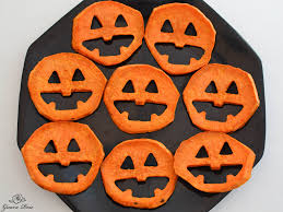 roasted sweet potato jack o lantern faces and ghosts guava rose