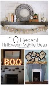 10 elegant halloween mantel ideas mantle decorating mantle