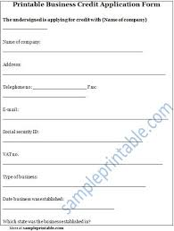 generic credit application template printable sample credit reference form form laywers template