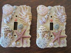 beach light switch covers seashell single light switch cover by oceanblooms on etsy sea