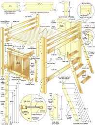 Plans For Triple Bunk Beds by Best 25 Bunk Bed With Desk Ideas On Pinterest Girls In Bed
