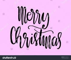 merry christmas modern merry christmas modern calligraphy greeting card stock vector