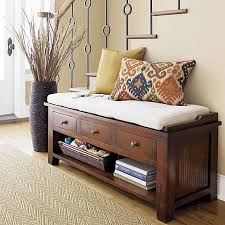 Bedroom Bench With Drawers Cushion Entryway Bench With Drawers And Storage Space Accesorios