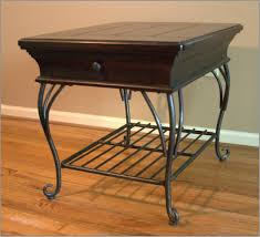 wood and wrought iron table wrought iron wood top coffee table home dar thippo