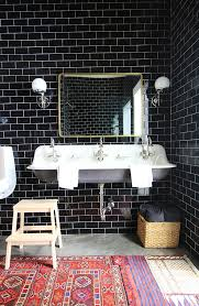 black subway tile black subway tile on repeat and floor to ceiling too home love