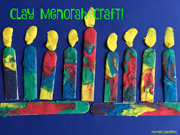 mini monets and mommies kids u0027 hanukkah clay craft menorah