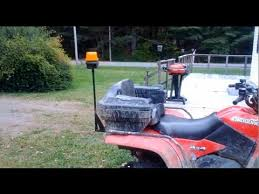 snow plow strobe lights diy how to attach a strobe light to your atv for snow plowing