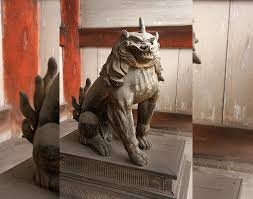 lion dog statue komainu the history of japan s mythical lion dogs