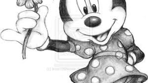 pencil drawings mickey mouse drawing pencil